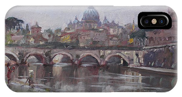 San Pietro In A Rainy Day Rome IPhone Case