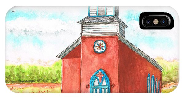 San Rafael Church In La Cueva, New Mexico IPhone Case