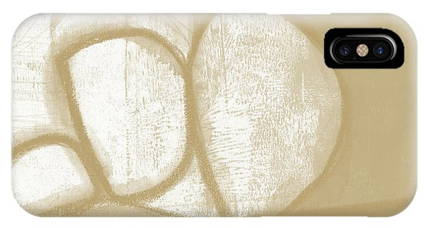 Natural iPhone Case - Sand And Stone 1- Contemporary Abstract Art By Linda Woods by Linda Woods