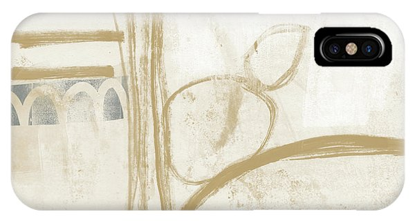 Natural iPhone Case - Sand And Stone 3- Contemporary Abstract Art By Linda Woods by Linda Woods