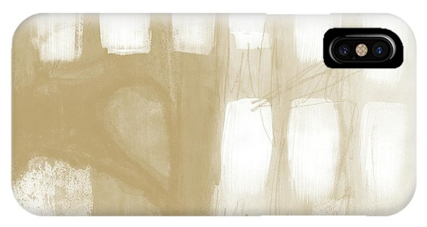 Natural iPhone Case - Sand And Stone 4- Contemporary Abstract Art By Linda Woods by Linda Woods