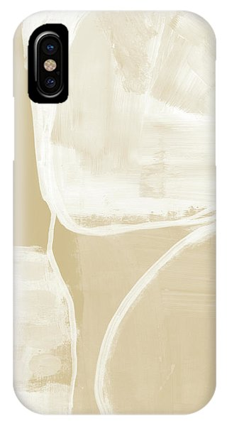 Natural iPhone Case - Sand And Stone 5- Contemporary Abstract Art By Linda Woods by Linda Woods