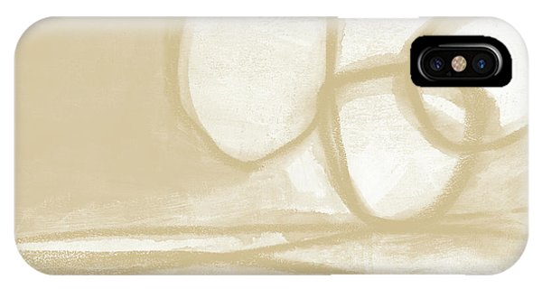 Natural iPhone Case - Sand And Stone 6- Contemporary Abstract Art By Linda Woods by Linda Woods