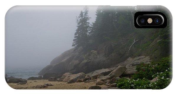 Sand Beach In A Fog IPhone Case