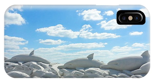 Sand Dolphins At Siesta Key Beach IPhone Case