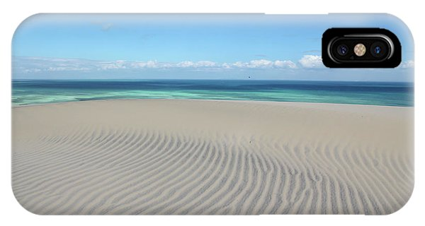 Sand Dune Ripples And The Ocean Beyond IPhone Case