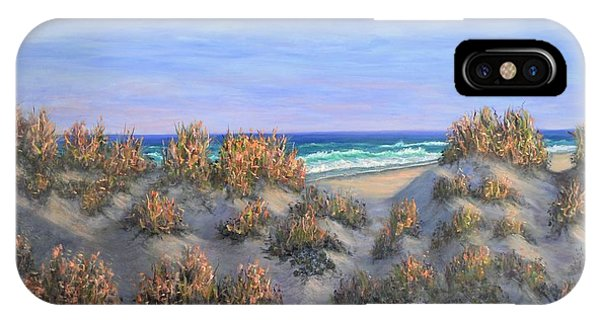 Sand Dunes Sea Grass Beach Painting IPhone Case