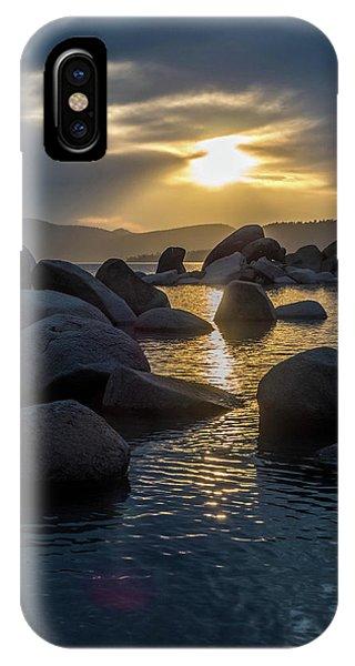Sand Harbor Light IPhone Case