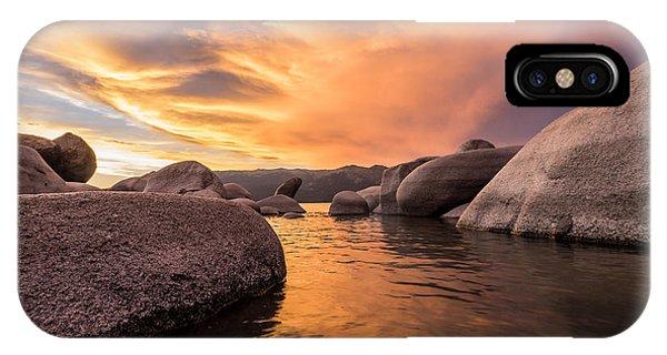 Sand Harbor Rocks IPhone Case