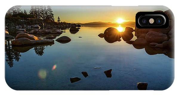 Rock Formation iPhone Case - Sand Harbor Sunset by Jamie Pham