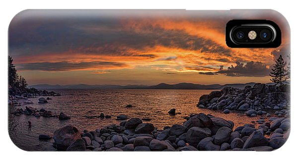 Sand Harbor Sunset Panorama IPhone Case