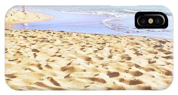 Sand Sea And Shadows IPhone Case