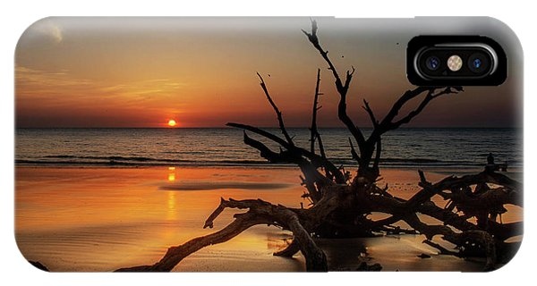 IPhone Case featuring the photograph Sand Surf And Driftwood by Chrystal Mimbs