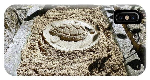 IPhone Case featuring the photograph Sand Turtle Print by Francesca Mackenney