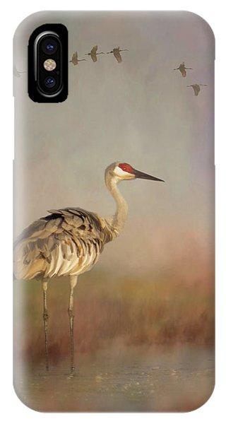 Sandhill Crane - Painterly Vertical IPhone Case
