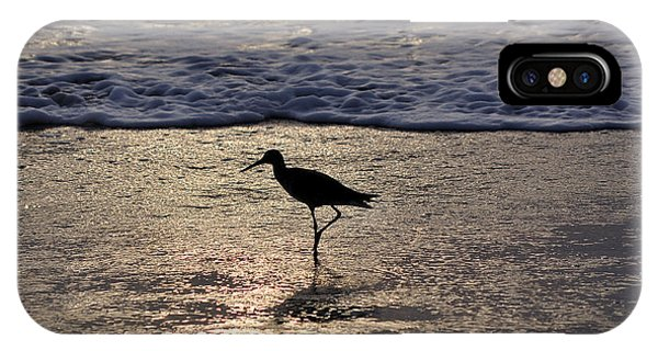 Sandpiper On A Golden Beach IPhone Case