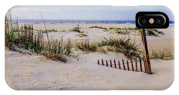Sand  Fences On The Bogue Banks 2 IPhone Case