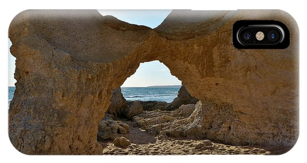 Sandstone Arch In Gale Beach. Algarve IPhone Case