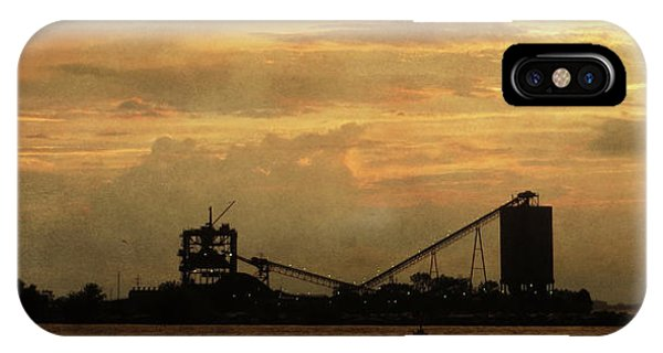 Sandusky Coal Dock Sunset IPhone Case
