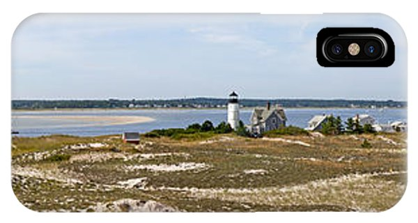 Sandy Neck Lighthouse With Fishing Boat IPhone Case