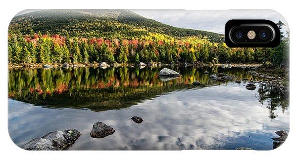 Reflection Sandy Stream Pond Me. IPhone Case