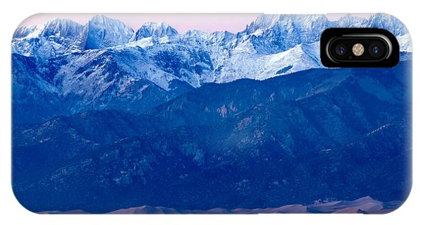 Sangre De Christo And The Great Sand Dunes National Park IPhone Case