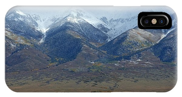 Sangre De Cristo iPhone Case - Sangre De Cristo First Snow by Merja Waters