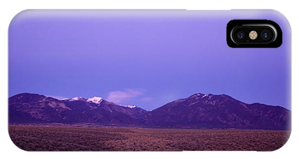 Sangre De Cristo iPhone Case - Sangre De Cristo Mountains At Sunset by Panoramic Images