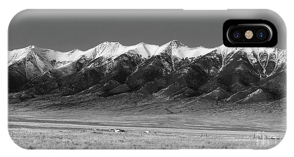 Sangre De Cristo iPhone Case - Sangre De Cristos  Dusk In Black And White by Twenty Two North Photography