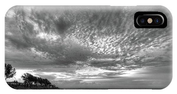 Sanibel Island Sunrise In Black And White IPhone Case