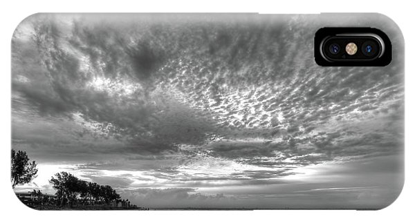 Sanibel Island Sunrise In Black And White IPhone Case