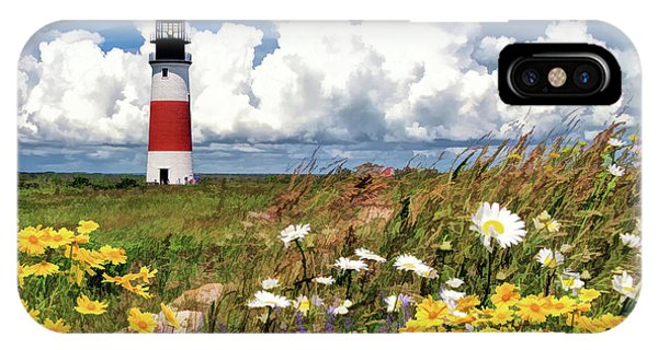 IPhone Case featuring the painting Sankaty Head Lighthouse by Christopher Arndt
