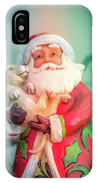 Santa And Lab Pup IPhone Case