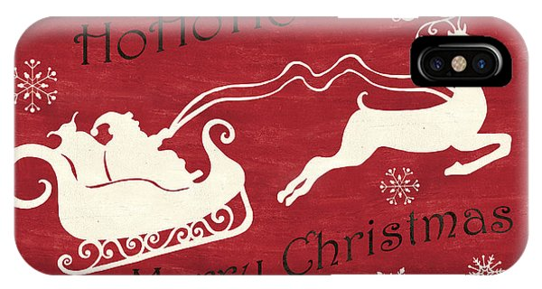 Santa Claus iPhone Case - Santa And Reindeer Sleigh by Debbie DeWitt