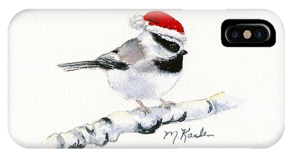 Santa Bandit - Chickadee IPhone Case