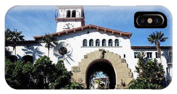 Barbara iPhone Case - Santa Barbara Courthouse -by Linda Woods by Linda Woods