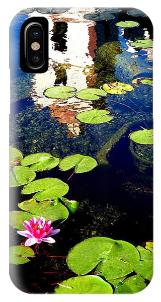 Santa Barbara Mission Fountain IPhone Case