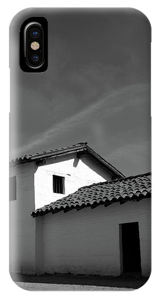 Adobe iPhone Case - Santa Barbara Presidio 2- Photograph By Linda Woods by Linda Woods