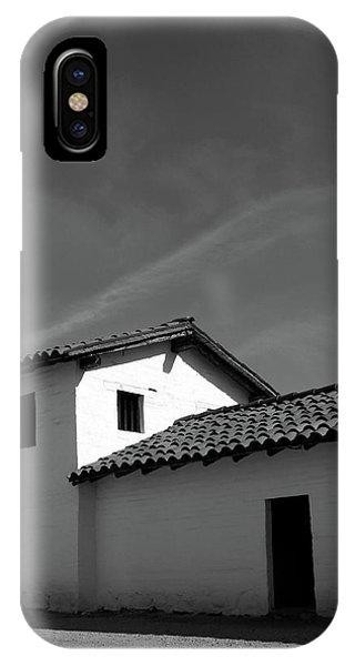 Sky iPhone Case - Santa Barbara Presidio 2- Photograph By Linda Woods by Linda Woods