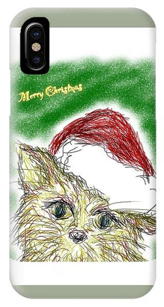 iPhone Case - Santa Cat by Kumiko Izumi