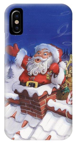 Santa Chimney IPhone Case