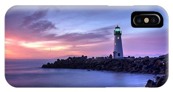 Santa Cruz Harbor Mouth Sunrise IPhone Case