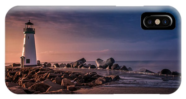 Santa Cruz Harbor Walton Lighthouse IPhone Case