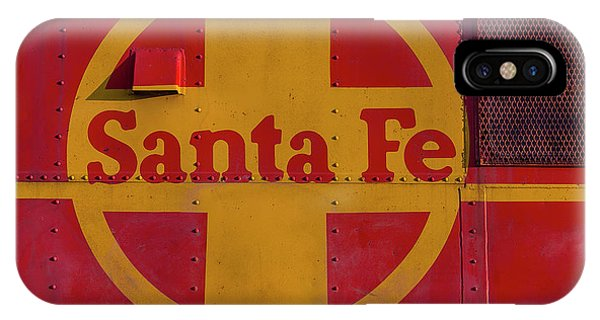 Red Caboose iPhone Case - Santa Fe Railroad by Garry Gay