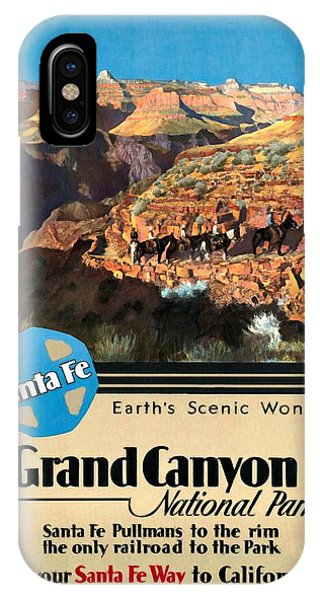 Santa Fe Train To Grand Canyon - Vintage Poster Restored IPhone Case