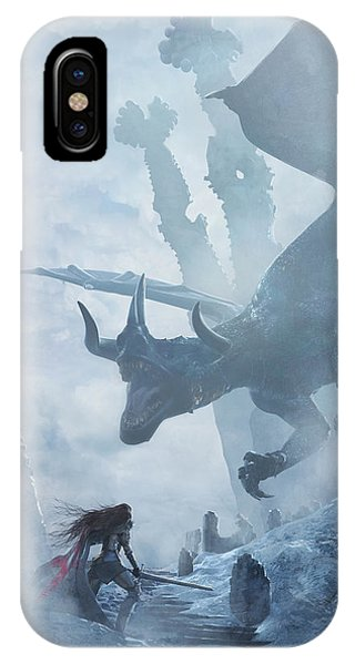 Santa Georgina Vs The Dragon IPhone Case