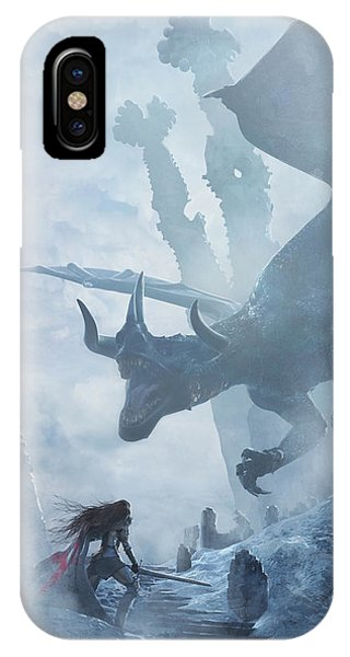 Dragon iPhone Case - Santa Georgina Vs The Dragon by Guillem H Pongiluppi