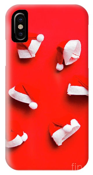 Santa Claus iPhone Case - Santa Hat Party by Jorgo Photography - Wall Art Gallery