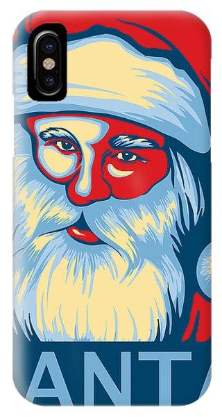 Holiday iPhone Case - Santa Hope by David Kyte