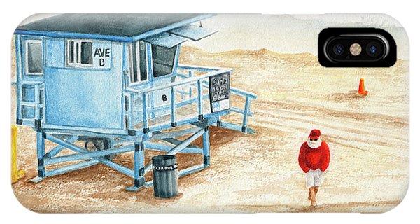 Santa Is On The Beach IPhone Case